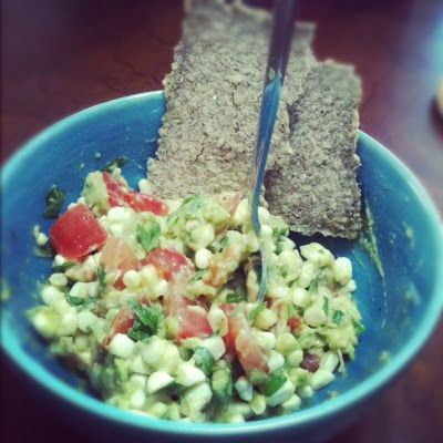 real raw kitchen: RECIPE: southwestern bowl with corn and guac