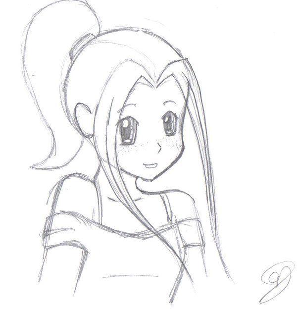 Bildergebnis für niedliches Anime Mädchen einfach zu zeichnen