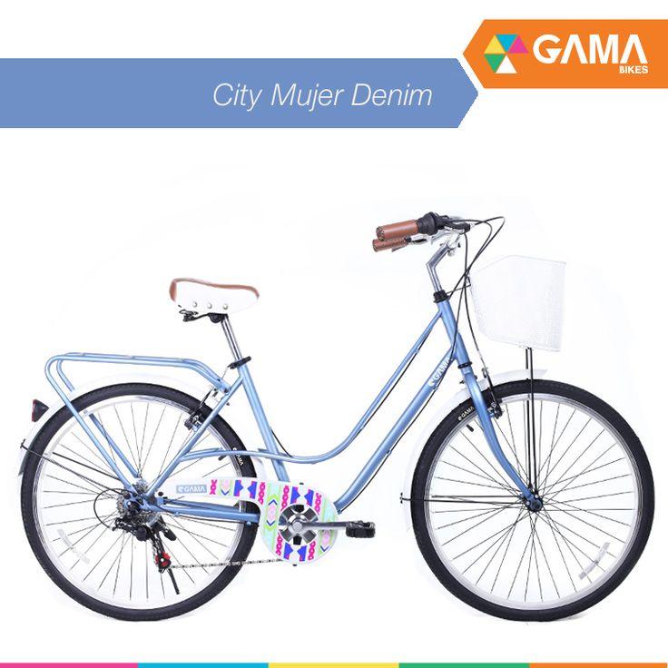 City Mujer Denim tiene todo lo que necesitas para moverte en la ciudad. ¿Te gusta? gamabikes.com