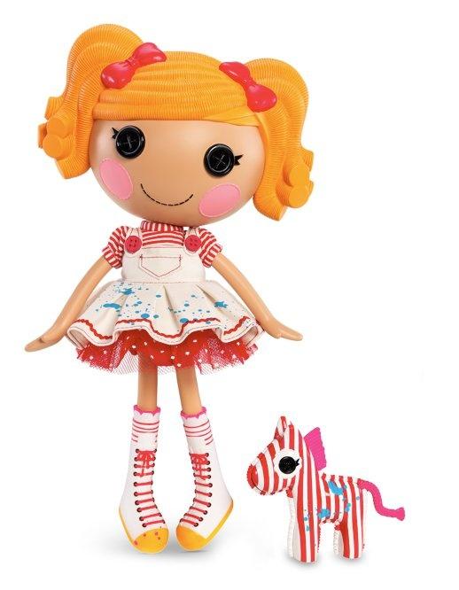 Spot Splatter Splash Full Size Doll (#5) Sewn From Painter's Overalls Sewn On October 25th (International Artist Day, also Picasso's Birthday) Pet Zebra