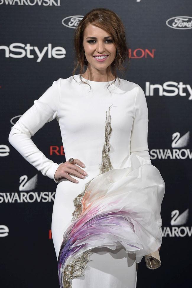 Paula Echevarría en la fiesta de 10º aniversario de la revista Instyle con Swarovski y Revlon.