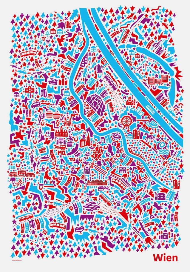 Vienna City Map by Vianina - Nina Wilsmann