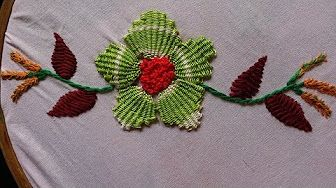 Hand Embroidery: Kadai Kamal Stitch - YouTube