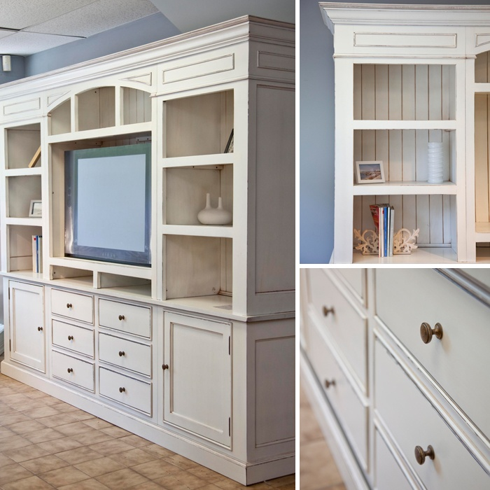 Atelier Des Compagnons   White Wall TV Unit And Library