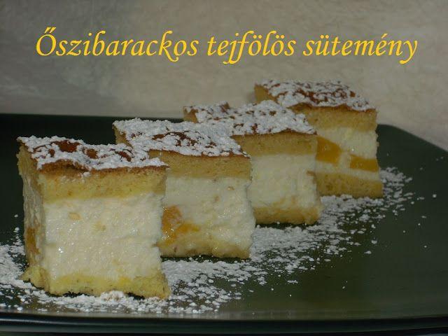 Hankka: Őszibarackos tejfölös sütemény