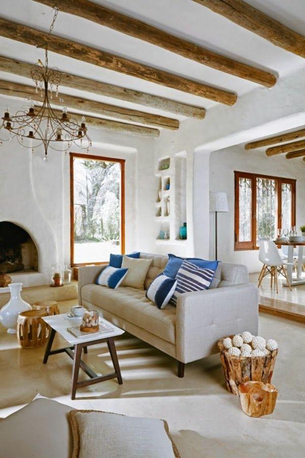 70 besten mediterranes wohnen bilder auf pinterest mediterran betten und metall nachttisch - Wohnzimmer mediterraner stil ...