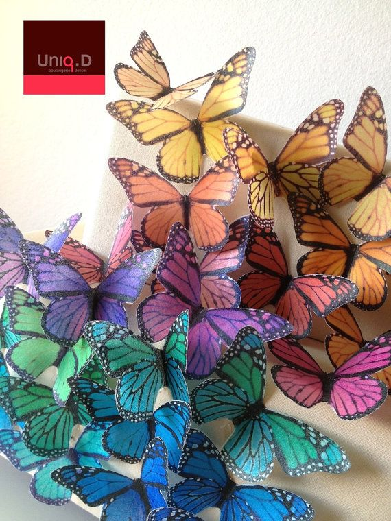 BUY 36 get 3 FREE XLARGE monarch butterflies - wedding cake decoration - cake decoration - edible butterflies by Uniqdots on Etsy