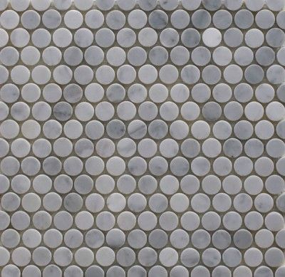 26080 Bianco Carrara Penny Rounds Textures Materials Patterns Pinterest Carrara And