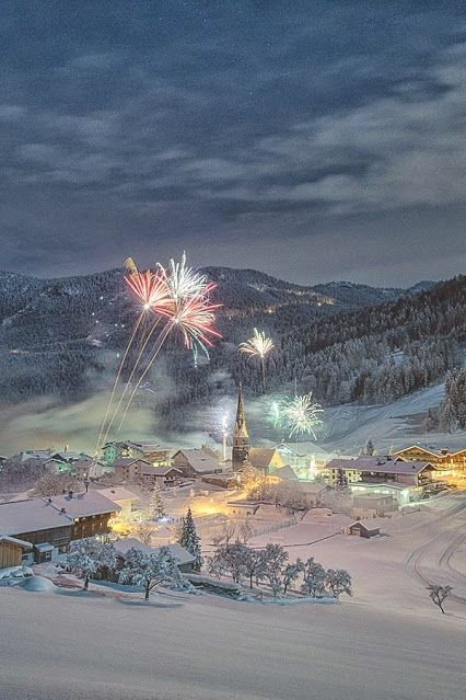Wow! Fireworks in winter!