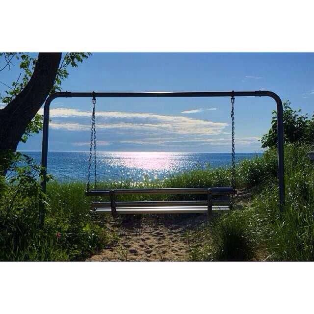 A swing with a view, Arcadia Michigan.