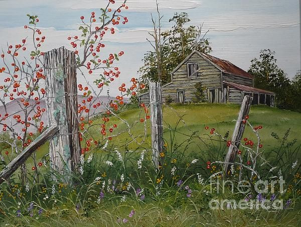 rustic fence post painting