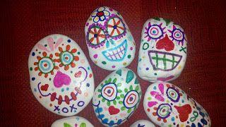 Random Bits Of Goodness: Day of the Dead Sugar Skulls Craft A Week #27