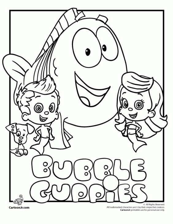 Free Printable Bubble Guppies Colorng
