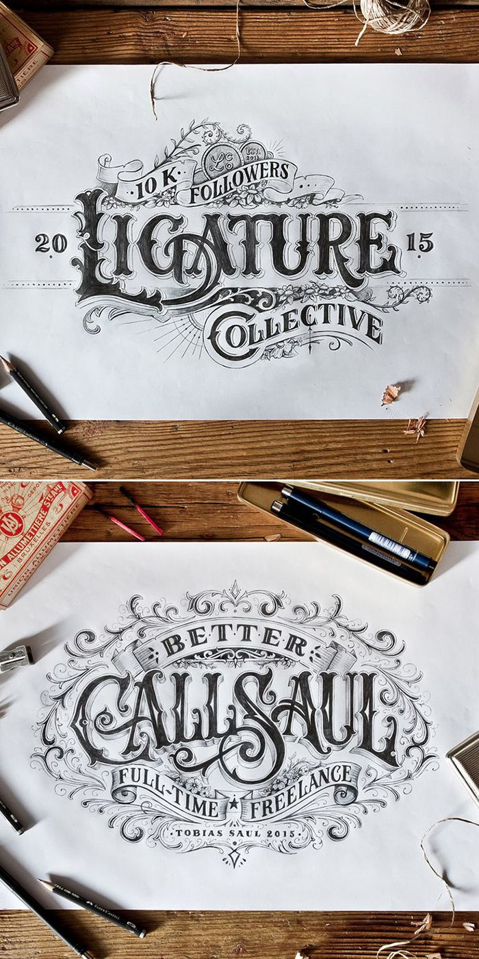 drawn vintage type