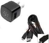 OEM Blackberry RIM Home Wall Travel Charger Adapter with Micro USB Data Sync Cable for Blackberry Curve 8520 8530 8900 3G 9300 9330 9500 Storm 9530 Storm 2 9550 9520 Tour 9630 Style 9670 Bold 9650 9700 9780 Torch 9800 - OEM Blackberry RIM Home Wall T