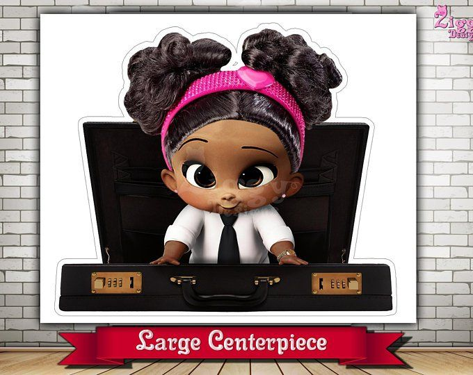 The Boss Baby Girl African American Large Centerpiece Baby
