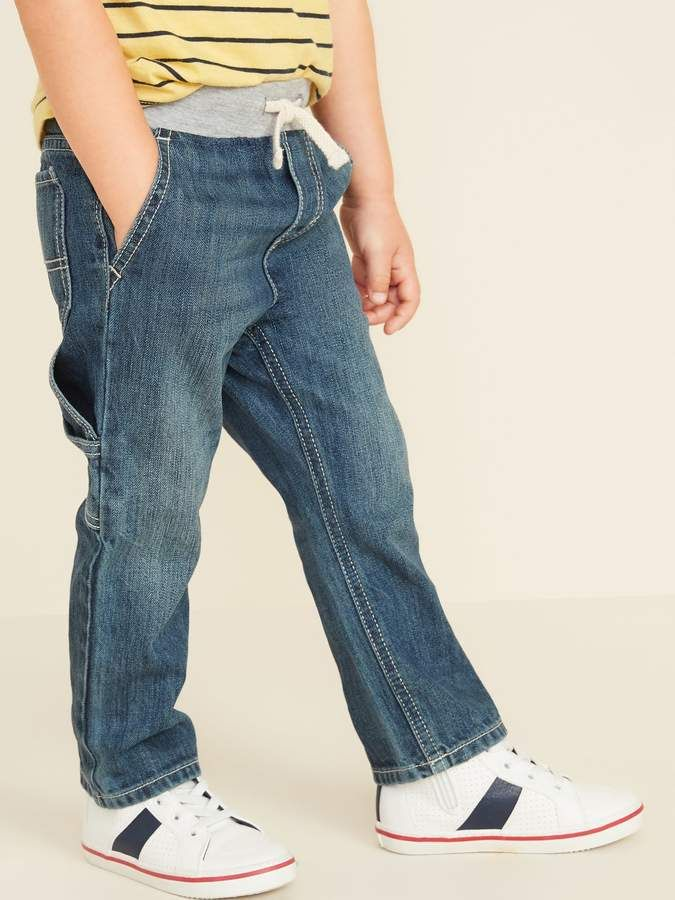 Old Navy Relaxed Jersey Waist Pull On Carpenter Jeans For Toddler Boys Carpenter Jeans Toddler Boys Jeans Style