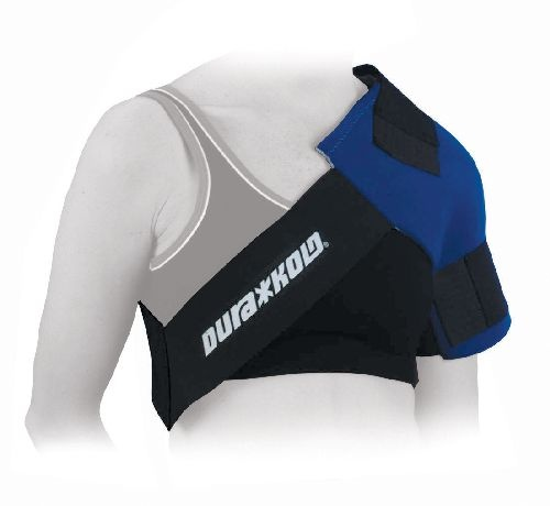 The Dura Soft Shoulder Ice Pack Wrap helps to reduce pain and swelling following shoulder injury.