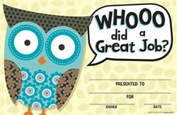 Owl Recognition Certificate, Mardel