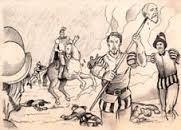 295 – (1543) Blasco Nuñez de Vela, enviado de vuelta a España, desembarcó en Tumbes y reunió un ejército con el que marchó contra los gonzalistas, con el ánimo tenaz de recuperar el poder. Pero hubo de retroceder y en la batalla de Iñaquito, cerca de la ciudad de Quito, fue derrotado y decapitado, el día 18 de enero de 1546.