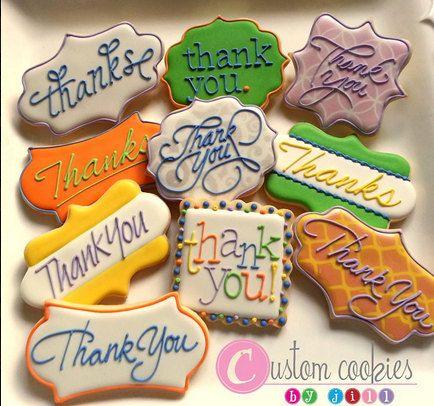 1 DOZEN - Thank You Cookies