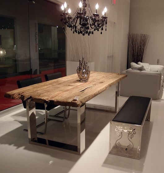 modern dining furniture at the las vegas world market - Designer Wood Dining Tables