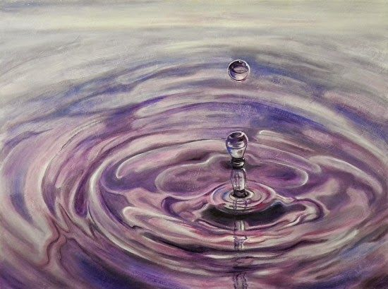 "Daily Painters Abstract Gallery: Abstract Water Ripple Art Painting ""Quenched"" by Contemporary Realism Artist Carol A. McIntyre"