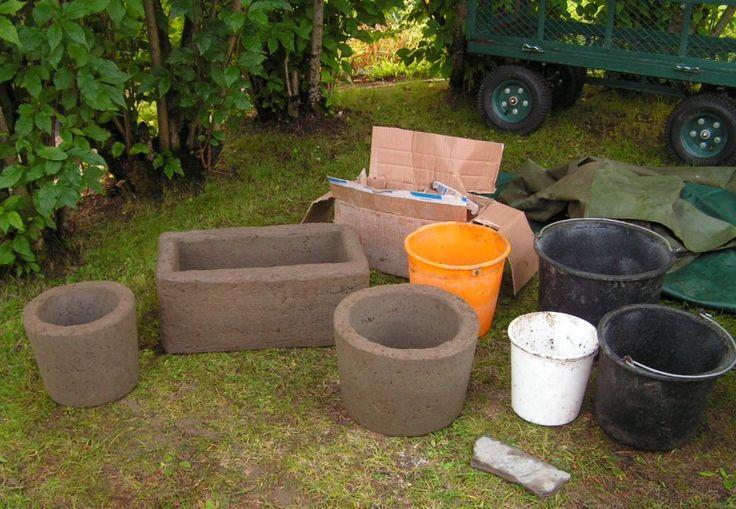 Concrete DIY planters
