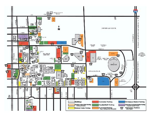 Bowling Green State University   Main Campus Map Part 80