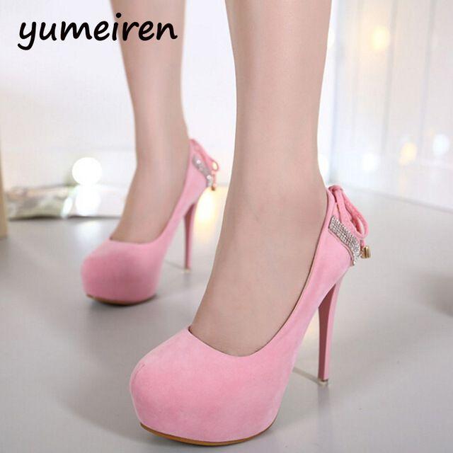 Bomba sexy sapatos de salto Stiletto Mulheres Sapatos bombas De Salto Alto rosa saltos de Baile Sapatos rendas até saltos de strass sapatos de casamento X16