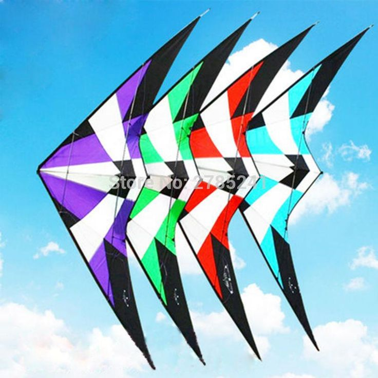 High Quality 1.8m/70inch Dual Line Professional Delta Stunt Kite Outdoor Sport Power Kite With Flying Tools Beach and Square