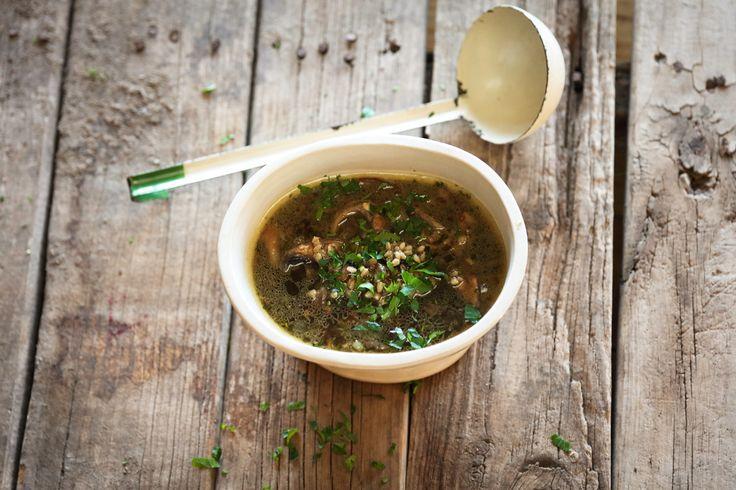 Mushroom and Barley Soup - Maggie Beer