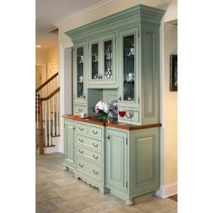 built in hutch in formal dining room using cabinetry from kitchen