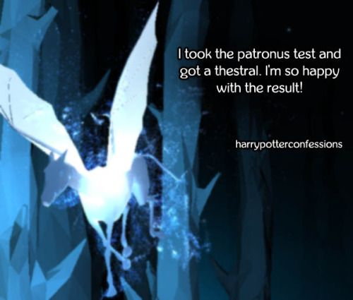 I took the patronus test and got a thestral. Im so happy...