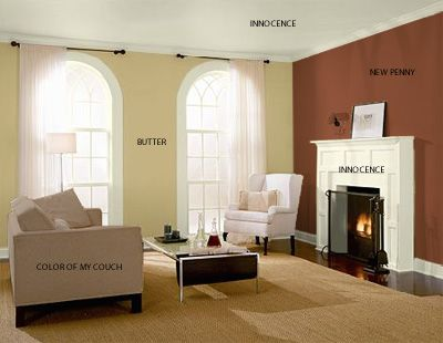 Living room wall colors new home picking for Two tone room paint