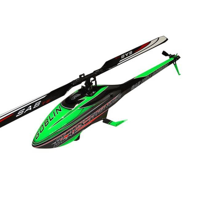 SAB Goblin Black Thunder 700 Green/Carbon Electric Helicopter Kit