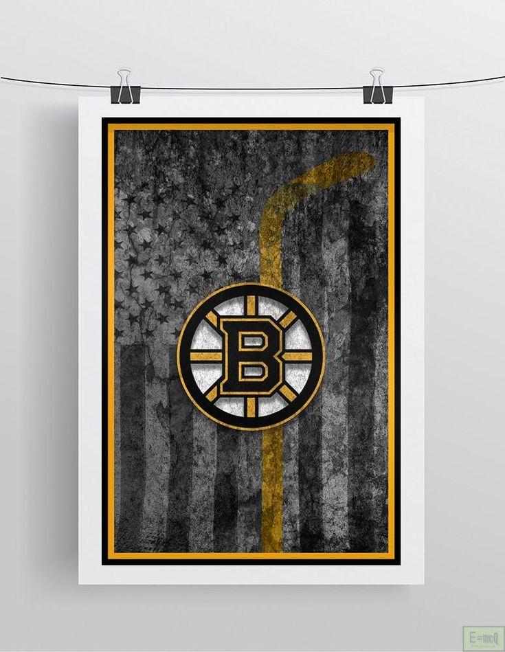 Boston Bruins Hockey Poster, Boston Bruins Hockey Flag Bruins Gift, Man Cave
