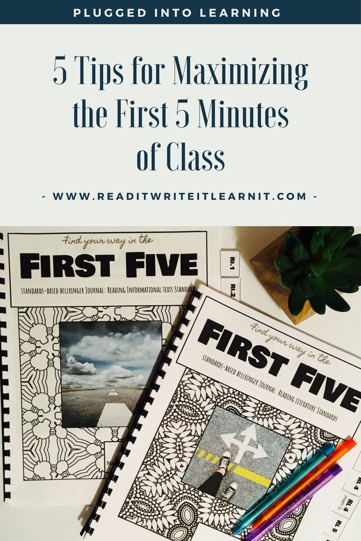 Help your students to get plugged into meaningful learning in the first five minutes of every class with these 5 tips from Read it. Write it. Learn it. Includes engaging ideas for implementing bellringers and entry tasks! From www.readitwriteitlearnit.com