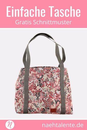 Einfacher Einkaufsbeutel | Schnittmuster kostenlos | Pinterest ...