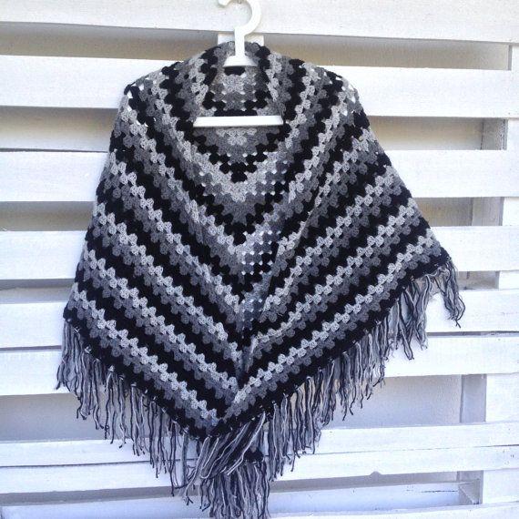 Handmade warm shawl crochet shawl customly made by PixiesFairies