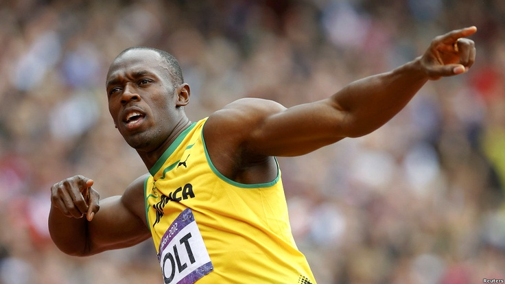 The Lightning Bolt: 2 Gold Medals for 2nd consecutive year-Usain Bolt - 100m in 9.63sec; 200m in 19.32sec-