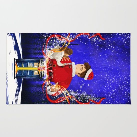10th Doctor Who celebrate christmas RUG #rug #christmas #newyearfireworks #neonlights #tardis #doctorwho #thedoctor #doctorwho #nerd #geek #funny #cool #tardis #nerdy #geeky #cover #time #vortex #timelord #badwolf #nerds #fandom #drwho #whotimetravel #british #gallifrey #gallifrean #bluebox #publiccallbox #10thdoctor #tenthdoctor #davidtennant #bluephonebox