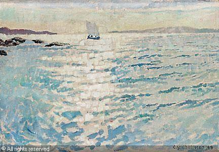 Carl Wilhelmson (1866-1928): Solglitter, 1918
