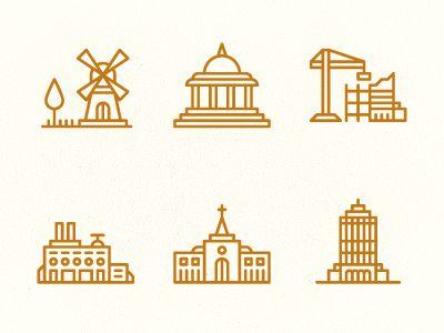 Building Icons 2 by Tim Boelaars