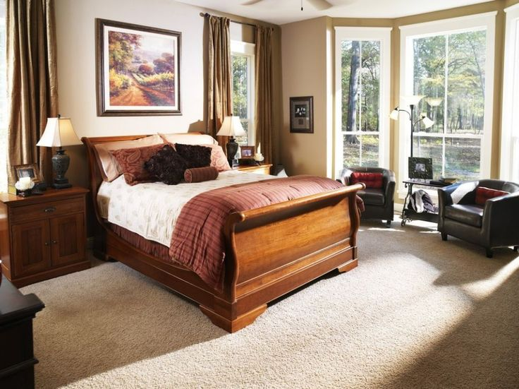 Beautiful Wooden Sleigh Beds
