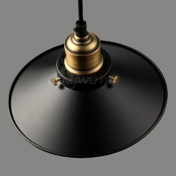 rh loft vintage copper base edison led bulb iron shade ceiling hanging industrial pendant lamp light