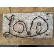 love barbed wire sign | Barb wire crafts