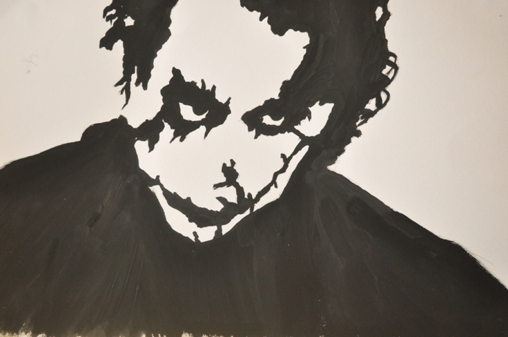 Just a handmade Joker STENCIL