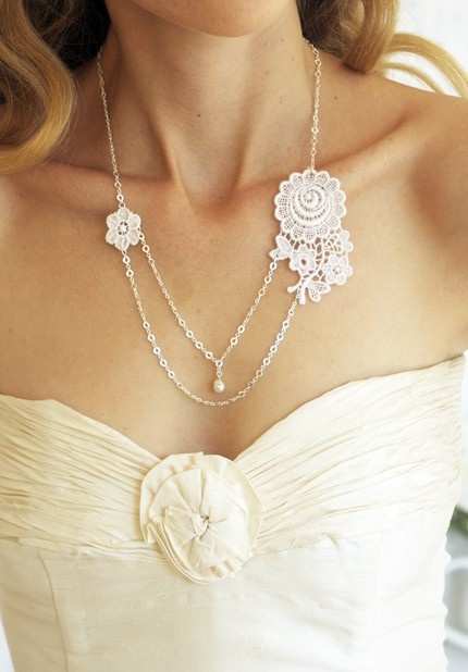 lace an pearl necklace