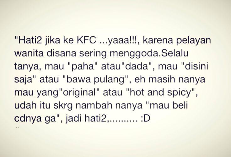 hati-hati godaan pelayan KFC